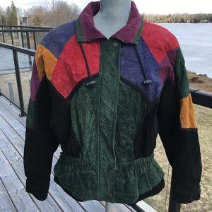 Chia Leather Bomber Jacket